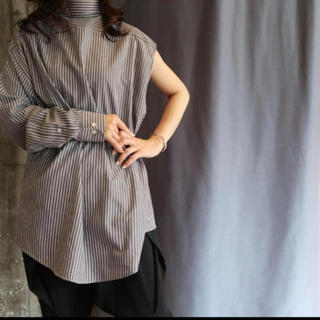 BEAUTY&YOUTH UNITED ARROWS - 試着のみ美品 one sleeve big shirt カーキ