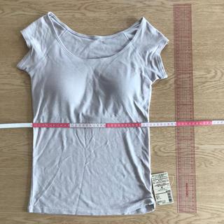 ムジルシリョウヒン(MUJI (無印良品))の「新品」無印良品 カップ入りフレンチスリーブ(Tシャツ(半袖/袖なし))