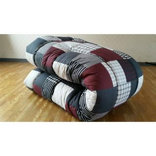 ソフトタッチ 綿100% 長方形 厚掛け こたつ掛け布団 日本製 ブロック