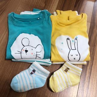 ネクスト(NEXT)のNEXT ネクスト パジャマ と靴下 2セット 80cm(パジャマ)