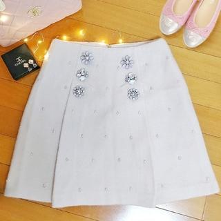 Lily Brown - ビジューボタン スカート