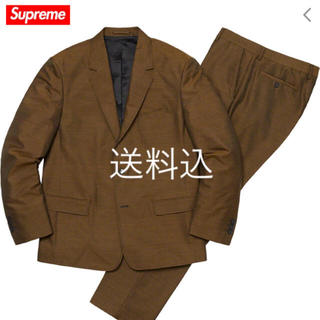 supreme sharkskin suit brown sサイズ