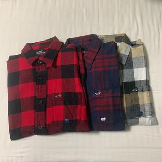 ホリスター(Hollister)のホリスター  チェック フランネルシャツ 3枚セット(シャツ)