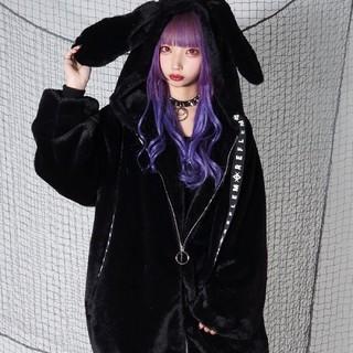 フーガ(FUGA)のレフレムREFLEM✨ウサ耳BIGファーパーカー✨TRAVAS TOKYO姉妹(毛皮/ファーコート)