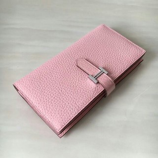 Hermes - お勧め可愛いエルメス ローズさくら ベアン 長財布 ピンク 折り財布