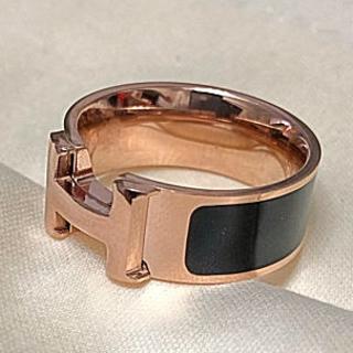 リング ローズゴールド ブラック レディース(リング(指輪))