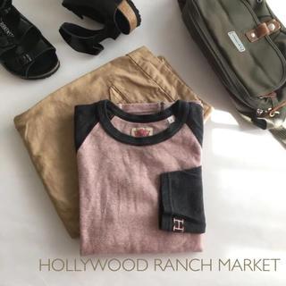 ハリウッドランチマーケット(HOLLYWOOD RANCH MARKET)の美品 ハリウッドランチマーケット カットソー ラグラン ロンT 1(Tシャツ(長袖/七分))