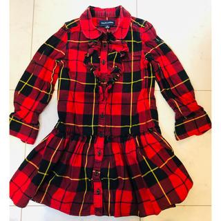 ラルフローレン(Ralph Lauren)のラルフローレン ワンピース 長袖 size110   秋冬に!(ワンピース)