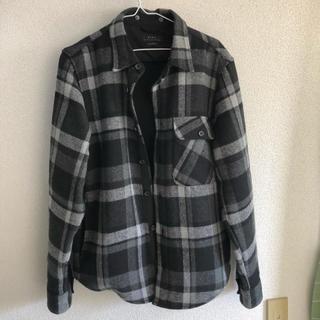 ザラ(ZARA)のチェック柄フード付きシャツジャケット(シャツ)