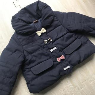 プティマイン(petit main)のアウター 80cm プティマイン リボン中綿コート(ジャケット/コート)