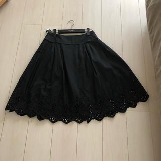 フォクシー(FOXEY)のフォクシー ブロッサム シルク100パーセント  スカート 40(ひざ丈スカート)