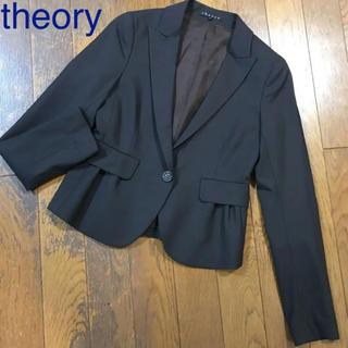 セオリー(theory)の新品同様♡theory セオリー♡テーラードジャケット ブラウン フォーマル 0(テーラードジャケット)