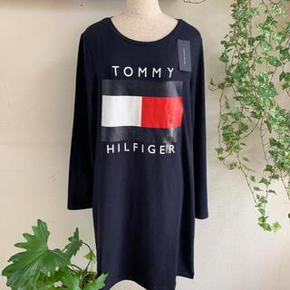 トミーヒルフィガー(TOMMY HILFIGER)のハワイ購入 トミーヒルフィガーのワンピース Lサイズ ネイビー(ひざ丈ワンピース)