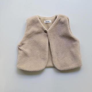 キャラメルベビー&チャイルド(Caramel baby&child )のうさぎ様専用ボアベスト 85〜90(ジャケット/上着)
