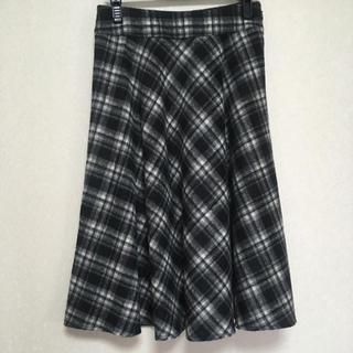 ベルメゾン - 【未使用】ドレープたっぷりなチェック柄スカート S