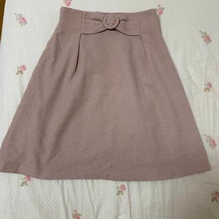 マジェスティックレゴン(MAJESTIC LEGON)のピンクスカート 冬物(ミニスカート)