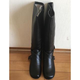 ベルメゾン(ベルメゾン)の新品未使用 ロングブーツ  24.5 ブラック ベルメゾン(ブーツ)