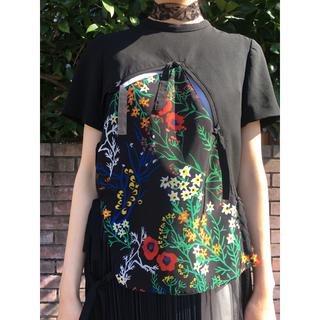 MIDWEST - AKIRA NAKA 花柄 ブラック ブラウス