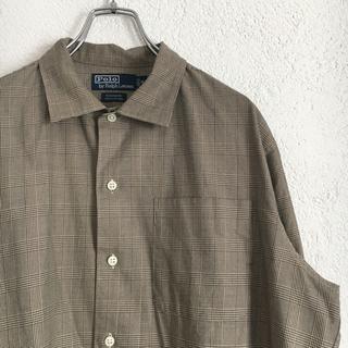 POLO RALPH LAUREN - ポロ polo 長袖 格子 チェック ブラウン 茶色 長袖シャツ シャツ メンズ