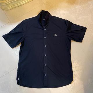 バーバリーブラックレーベル(BURBERRY BLACK LABEL)の美品★Burberry Black label紺半袖(シャツ)