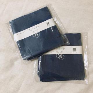 mina perhonen - ちょうむすび ミナペルホネン chou cho ブルー 2つ リネン刺繍 むす美