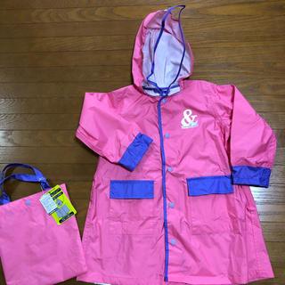 ampersand - キッズレインコート 90〜100 AMPERSAND ピンク