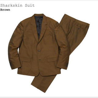 Supreme - supreme sharkskin suit brown S