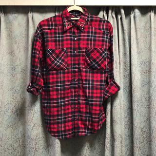INGNI - 美品♡ INGNI チェックシャツ スタッズ 秋 ネルシャツ 赤 レッド 長袖