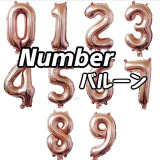誕生日 記念日 に 数字バルーン 飾り付け ピンクゴールド