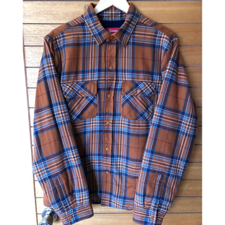 Supreme - Supreme Pile Lined Plaid Flannel Shirt M