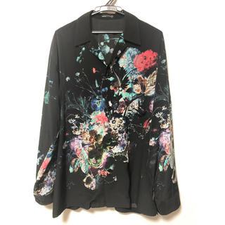 LAD MUSICIAN - 【美品】LAD MUSICIAN 花柄 vivid オープンカラーシャツ 46