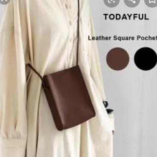 TODAYFUL - leather square pochette♡