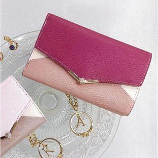 4℃ - 新品 ルリア4℃ 財布 ヨンドシー 折り財布 ピンク ボルドー