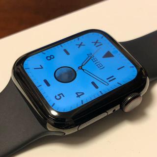 アップルウォッチ(Apple Watch)のApple Watch シリーズ4 40mm ブラックステンレス (その他)