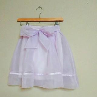 スナイデル(snidel)のSnidel バックリボンオーガンジースカート(ひざ丈スカート)