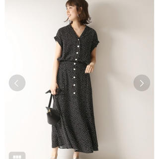 Spick and Span - Spick & Span スクエアドットオープンカラーシャツとスカートのセット