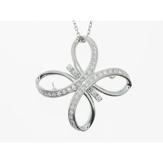 【K18WG】0.520ct UP ダイヤモンドネックレス(ネックレス)