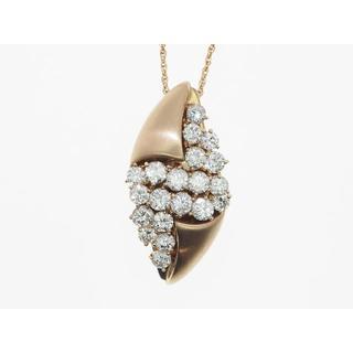 【K18PG】2.00ct UP ダイヤモンドネックレス(ネックレス)