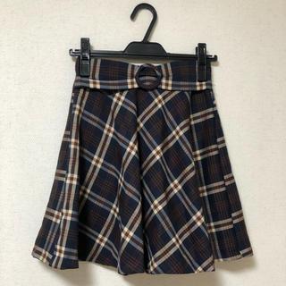 INGNI - ウエストリボンチェック柄スカート