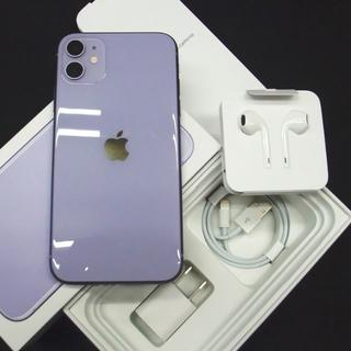 Apple - SIMフリー・利用制限◯ iPhone11 64GB パープル