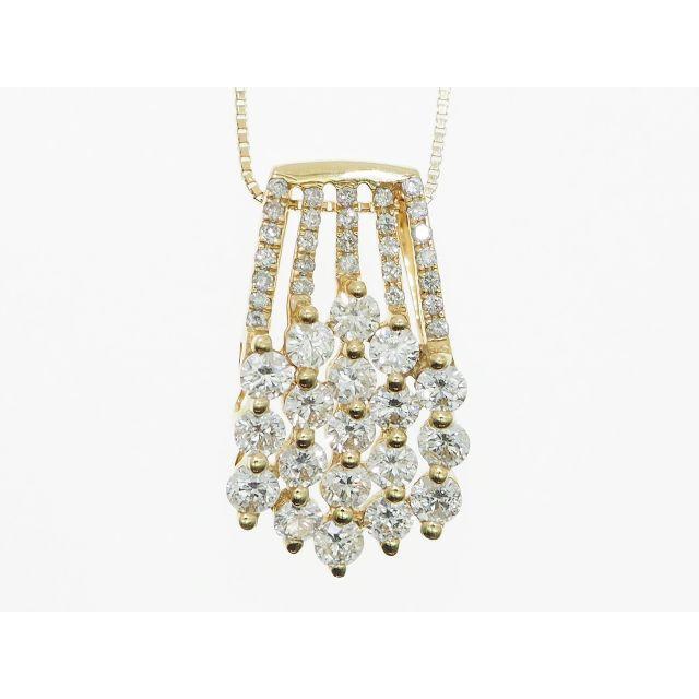 【K18YG】1.750ct UP ダイヤモンドネックレス レディースのアクセサリー(ネックレス)の商品写真
