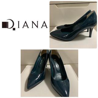 DIANA - ダイアナ ダークグリーン  エナメル パンプス
