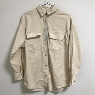 GU - GU コーデュロイオーバーサイズシャツ ナチュラル