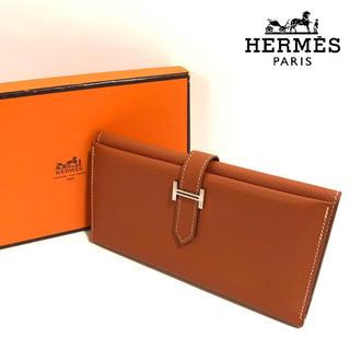 Hermes - 美品✨【正規品】エルメス ベアン  三つ折り 長財布