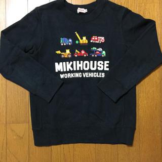 mikihouse - ミキハウス❤︎働く車アップリケトレーナー❤︎黒130