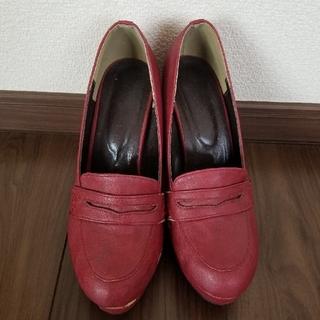 ローファー(太めヒール)(ローファー/革靴)