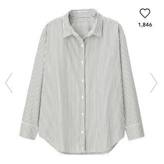 GU - 美品 2wayストライプオーバーサイズシャツ