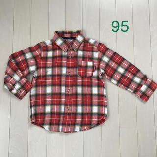 Donkey Jossy - キッズ  チェックシャツ  ネルシャツ  95