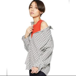 Mila Owen - ニットタンク付き レイヤードシャツ チェックシャツ