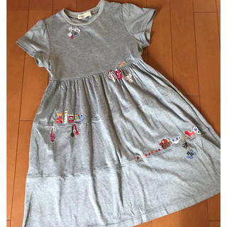 familiar - ファミリア 刺繍ワンピース 120-130size